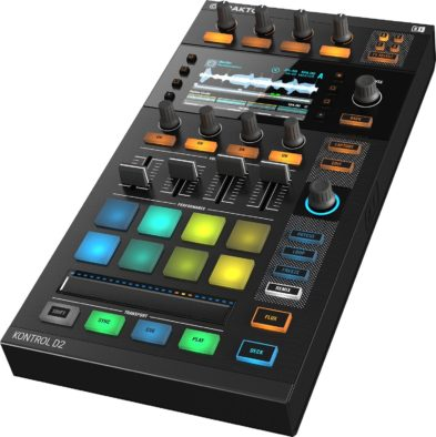 Traktor Kontrol D2, modular controller by NI which offers screens and smart controls.